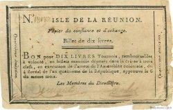 10 Livres ÎLE DE LA RÉUNION  1796 P.A11bis TB