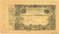 5 Francs MARTINIQUE  1859 P.A03r SPL