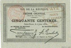 50 Centimes ÎLE DE LA RÉUNION  1884 P.05 pr.SPL