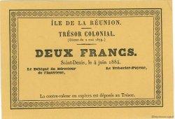 2 Francs ÎLE DE LA RÉUNION  1884 P.07 pr.NEUF