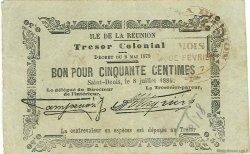50 Centimes ÎLE DE LA RÉUNION  1884 P.01 TTB