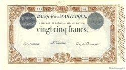 25 Francs 1852 modifié 1874 marron MARTINIQUE  1903 P.07s NEUF