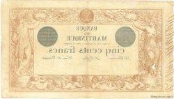 500 Francs 1852 modifié 1874 MARTINIQUE  1910 P.09 TB+