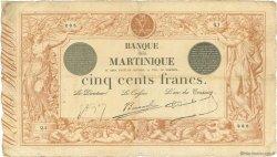 500 Francs 1852 modifié 1874 MARTINIQUE  1910 P.09 pr.TB