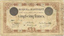 25 Francs marron MARTINIQUE  1930 P.07b B+