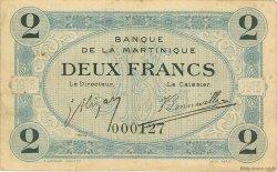 2 Francs MARTINIQUE  1915 P.11 TB+