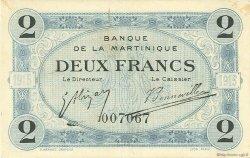 2 Francs MARTINIQUE  1915 P.11 SUP