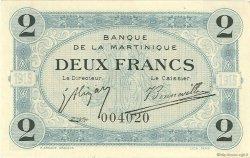 2 Francs MARTINIQUE  1915 P.11 SUP+