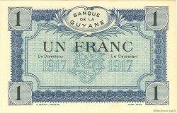 1 Franc type 1917 GUYANE  1917 P.05s SPL