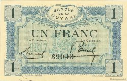 1 Franc GUYANE  1917 P.05 SPL+