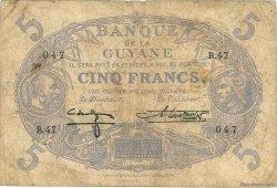 5 Francs Cabasson bleu GUYANE  1944 P.01d B