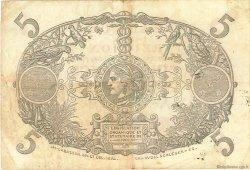 5 Francs Cabasson rouge ÎLE DE LA RÉUNION  1944 P.14 TB à TTB