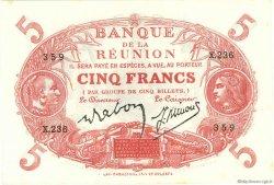 5 Francs Cabasson rouge ÎLE DE LA RÉUNION  1944 P.14 pr.NEUF
