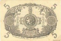5 Francs Cabasson rouge ÎLE DE LA RÉUNION  1944 P.14 TTB