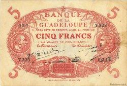 5 Francs Cabasson rouge GUADELOUPE  1945 P.07e TTB