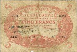 5 Francs Cabasson rouge GUADELOUPE  1945 P.07e B+