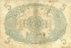 5 Francs Cabasson violet MARTINIQUE  1934 P.06 TB