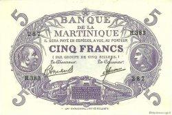 5 Francs Cabasson violet MARTINIQUE  1946 P.06C pr.NEUF