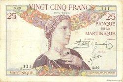 25 Francs type 1927 MARTINIQUE  1934 P.12 TTB