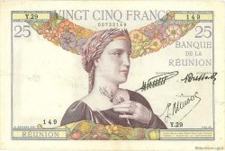 25 Francs type 1927 ÎLE DE LA RÉUNION  1940 P.23 TTB