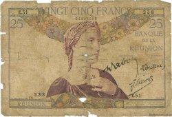 25 Francs type 1927 ÎLE DE LA RÉUNION  1944 P.23 AB