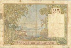 25 Francs type 1927 GUYANE  1940 P.07 B à TB