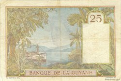 25 Francs type 1927 GUYANE  1942 P.07 TB à TTB