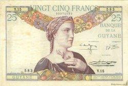 25 Francs type 1927 GUYANE  1942 P.07 TTB