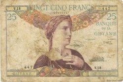 25 Francs type 1927 GUYANE  1945 P.07 B