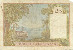 25 Francs type 1927 GUYANE  1945 P.07 TB