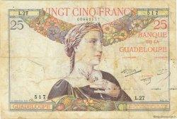 25 Francs GUADELOUPE  1944 P.14 TB