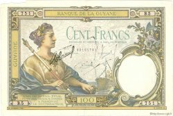 100 Francs type 1927 GUYANE  1934 P.08 TTB