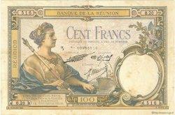 100 Francs ÎLE DE LA RÉUNION  1937 P.24 TB à TTB