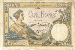 100 Francs type 1927 ÎLE DE LA RÉUNION  1940 P.24 B+