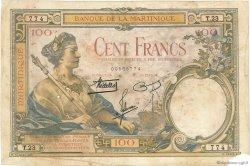 100 Francs MARTINIQUE  1938 P.13 B+