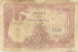 100 Francs type 1927 MARTINIQUE  1938 P.13 TB