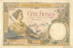 100 Francs MARTINIQUE  1945 P.13 TTB