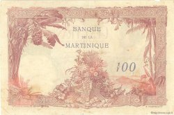 100 Francs type 1927 MARTINIQUE  1945 P.13 TTB