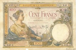 100 Francs MARTINIQUE  1945 P.13 B+