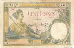 100 Francs type 1927 MARTINIQUE  1945 P.13 B+
