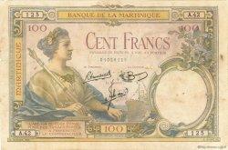 100 Francs type 1927 MARTINIQUE  1945 P.13 TB