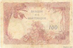 100 Francs MARTINIQUE  1945 P.13 TB