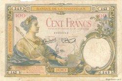 100 Francs type 1927 MARTINIQUE  1945 P.13 B+