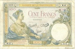 100 Francs MARTINIQUE  1945 P.13 B+