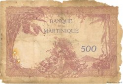 500 Francs type 1927 MARTINIQUE  1938 P.14 AB