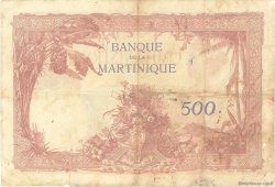 500 Francs type 1927 MARTINIQUE  1938 P.14 TB+