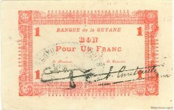 1 Franc type 1942 GUYANE  1942 P.11 TTB+