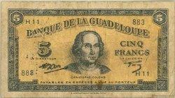 5 Francs type Américain GUADELOUPE  1945 P.21 B+