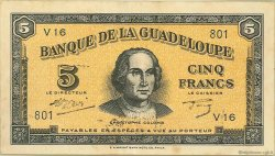 5 Francs type Américain GUADELOUPE  1945 P.21 TTB+