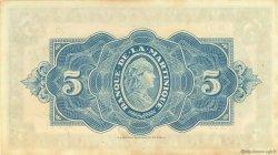 5 Francs MARTINIQUE  1942 P.16b SUP+